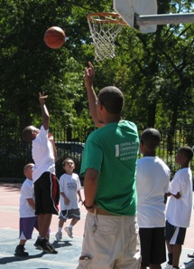 Basketball Clinic in Central Park by Tanja Brueckmann