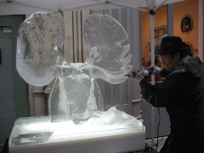 Okamato Studio Ice sculpture